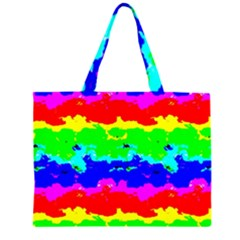 Colorful Digital Abstract  Large Tote Bag