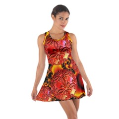 Flame Delights, Abstract Red Orange Racerback Dresses