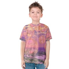 Glorious Skies, Abstract Pink And Yellow Dream Kid s Cotton Tee