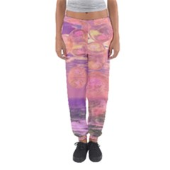 Glorious Skies, Abstract Pink And Yellow Dream Women s Jogger Sweatpants