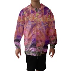 Glorious Skies, Abstract Pink And Yellow Dream Hooded Wind Breaker (kids)