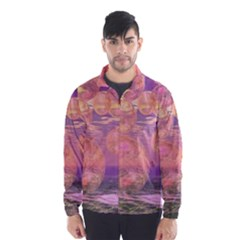Glorious Skies, Abstract Pink And Yellow Dream Wind Breaker (men)