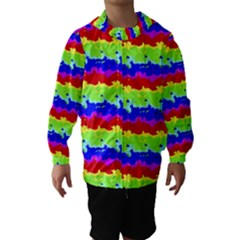 Colorful Abstract Collage Print Hooded Wind Breaker (kids)