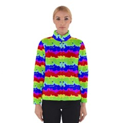 Colorful Abstract Collage Print Winterwear