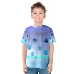 Moonlight Wonder, Abstract Journey To The Unknown Kid s Cotton Tee
