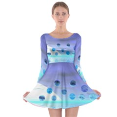 Moonlight Wonder, Abstract Journey To The Unknown Long Sleeve Skater Dress