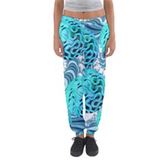 Teal Sea Forest, Abstract Underwater Ocean Women s Jogger Sweatpants