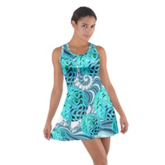 Teal Sea Forest, Abstract Underwater Ocean Racerback Dresses