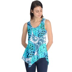 Teal Sea Forest, Abstract Underwater Ocean Sleeveless Tunic