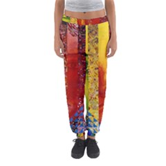 Conundrum I, Abstract Rainbow Woman Goddess  Women s Jogger Sweatpants