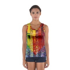 Conundrum I, Abstract Rainbow Woman Goddess  Tops