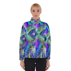 Abstract Peacock Celebration, Golden Violet Teal Winterwear