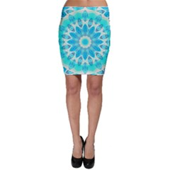 Blue Ice Goddess, Abstract Crystals Of Love Bodycon Skirts