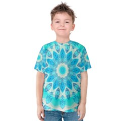 Blue Ice Goddess, Abstract Crystals Of Love Kid s Cotton Tee