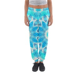 Blue Ice Goddess, Abstract Crystals Of Love Women s Jogger Sweatpants