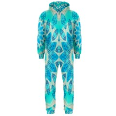 Blue Ice Goddess, Abstract Crystals Of Love Hooded Jumpsuit (men)