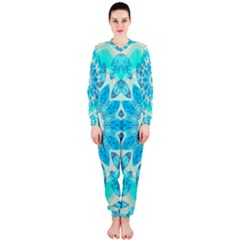 Blue Ice Goddess, Abstract Crystals Of Love Onepiece Jumpsuit (ladies)