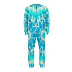 Blue Ice Goddess, Abstract Crystals Of Love Onepiece Jumpsuit (kids)