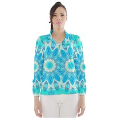 Blue Ice Goddess, Abstract Crystals Of Love Wind Breaker (women)