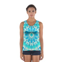 Blue Ice Goddess, Abstract Crystals Of Love Tops
