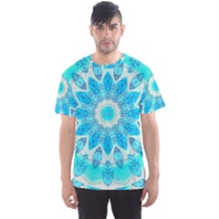 Blue Ice Goddess, Abstract Crystals Of Love Men s Sport Mesh Tee