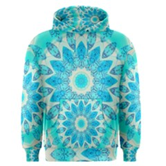 Blue Ice Goddess, Abstract Crystals Of Love Men s Pullover Hoodie