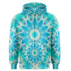 Blue Ice Goddess, Abstract Crystals Of Love Men s Zipper Hoodie