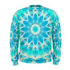 Blue Ice Goddess, Abstract Crystals Of Love Men s Sweatshirt
