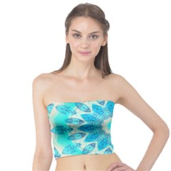Blue Ice Goddess, Abstract Crystals Of Love Tube Top