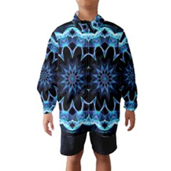 Crystal Star, Abstract Glowing Blue Mandala Wind Breaker (Kids)