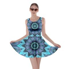 Star Connection, Abstract Cosmic Constellation Skater Dress