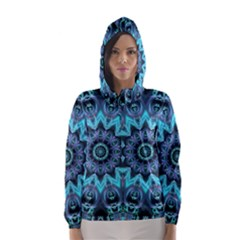 Star Connection, Abstract Cosmic Constellation Hooded Wind Breaker (women)