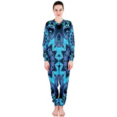 Star Connection, Abstract Cosmic Constellation Onepiece Jumpsuit (ladies)
