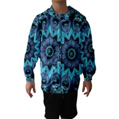 Star Connection, Abstract Cosmic Constellation Hooded Wind Breaker (Kids)