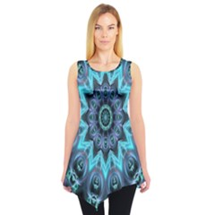 Star Connection, Abstract Cosmic Constellation Sleeveless Tunic