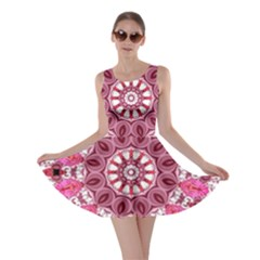 Twirling Pink, Abstract Candy Lace Jewels Mandala  Skater Dress