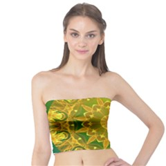 Yellow Green Abstract Wheel Of Fire Tube Top