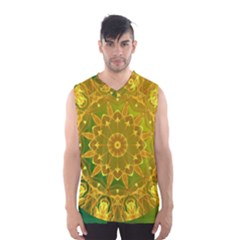 Yellow Green Abstract Wheel Of Fire Men s Basketball Tank Top