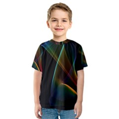 Abstract Rainbow Lily, Colorful Mystical Flower  Kid s Sport Mesh Tee