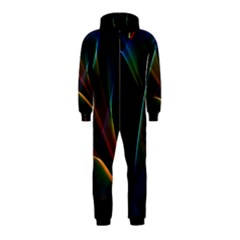Abstract Rainbow Lily, Colorful Mystical Flower  Hooded Jumpsuit (kids)