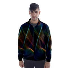 Abstract Rainbow Lily, Colorful Mystical Flower  Wind Breaker (men)