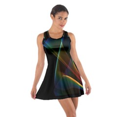 Abstract Rainbow Lily, Colorful Mystical Flower  Racerback Dresses