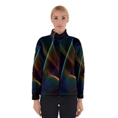 Abstract Rainbow Lily, Colorful Mystical Flower  Winterwear