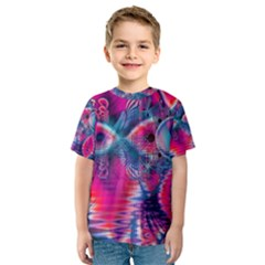 Cosmic Heart of Fire, Abstract Crystal Palace Kid s Sport Mesh Tee