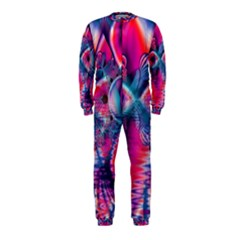 Cosmic Heart Of Fire, Abstract Crystal Palace Onepiece Jumpsuit (kids)