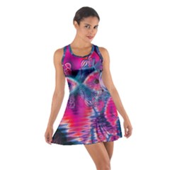 Cosmic Heart of Fire, Abstract Crystal Palace Racerback Dresses