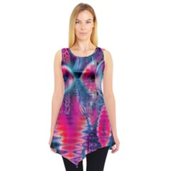 Cosmic Heart Of Fire, Abstract Crystal Palace Sleeveless Tunic