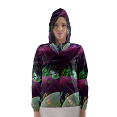 Creation Of The Rainbow Galaxy, Abstract Hooded Wind Breaker (women)