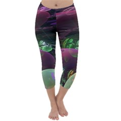 Creation Of The Rainbow Galaxy, Abstract Capri Winter Leggings