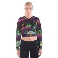Creation Of The Rainbow Galaxy, Abstract Women s Cropped Sweatshirt